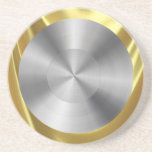 Stainless Steel Look Gold Coaster