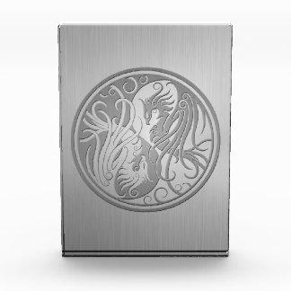 Stainless Steel Look Yin Yang Phoenix Acrylic Award