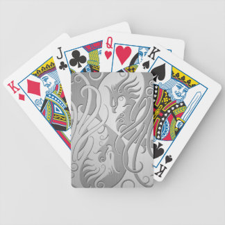 Stainless Steel Look Yin Yang Phoenix Bicycle Playing Cards