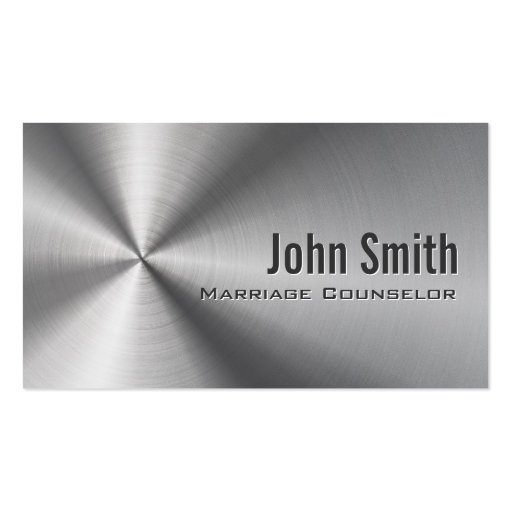 Stainless Steel Marriage Counseling Business Card