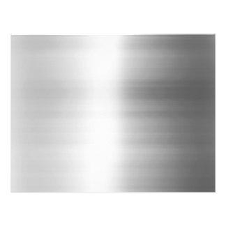 """Stainless Steel Metal Look 8.5"""" X 11"""" Flyer"""