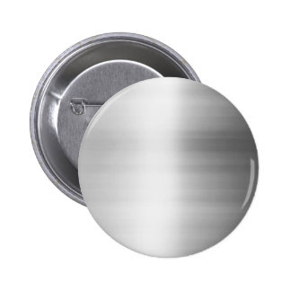 Stainless Steel Metal Look 2 Inch Round Button