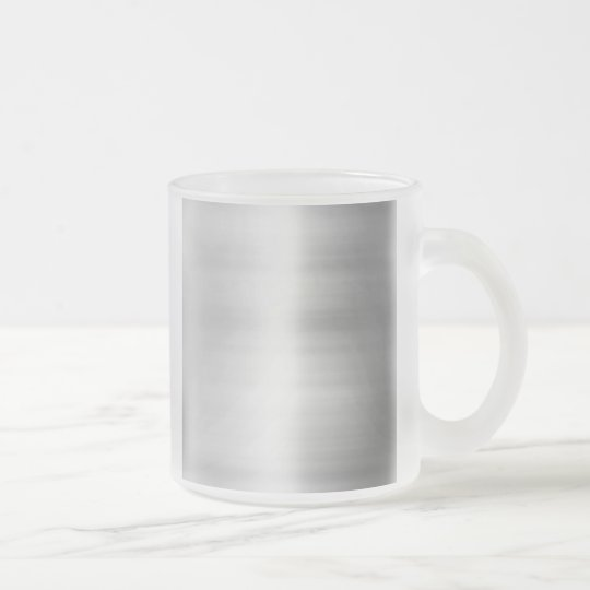 Stainless Steel Metal Look Frosted Glass Coffee Mug