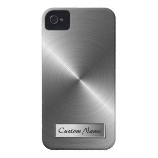 Stainless Steel Metal Look iPhone 4 4S Case