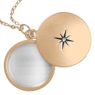Stainless Steel Metal Look Locket Necklace