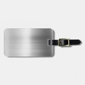 Stainless Steel Metal Look Luggage Tag