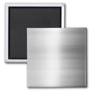 Stainless Steel Metal Look 2 Inch Square Magnet