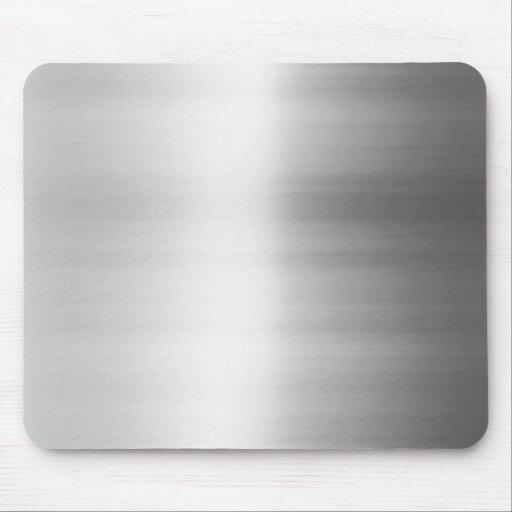 Stainless Steel Metal Look Mouse Pad