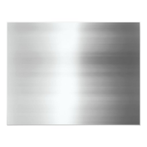 Stainless Steel Metal Look Personalized Invites
