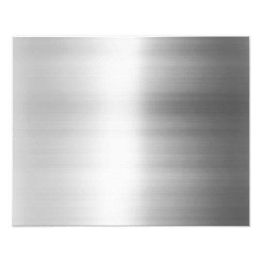 Stainless Steel Metal Look Photo Print