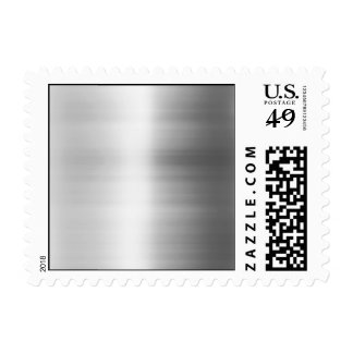 Stainless Steel Metal Look Postage Stamp