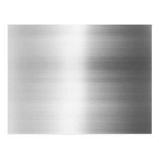 Stainless Steel Metal Look Postcard
