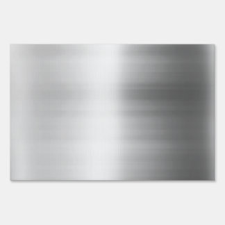 Stainless Steel Metal Look Yard Sign
