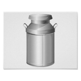 Stainless Steel Milk Container Poster