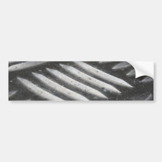 Stainless Steel Pattern Bumper Sticker