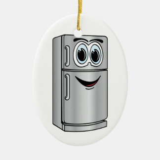 Stainless Steel Refrigerator Cartoon Ceramic Ornament