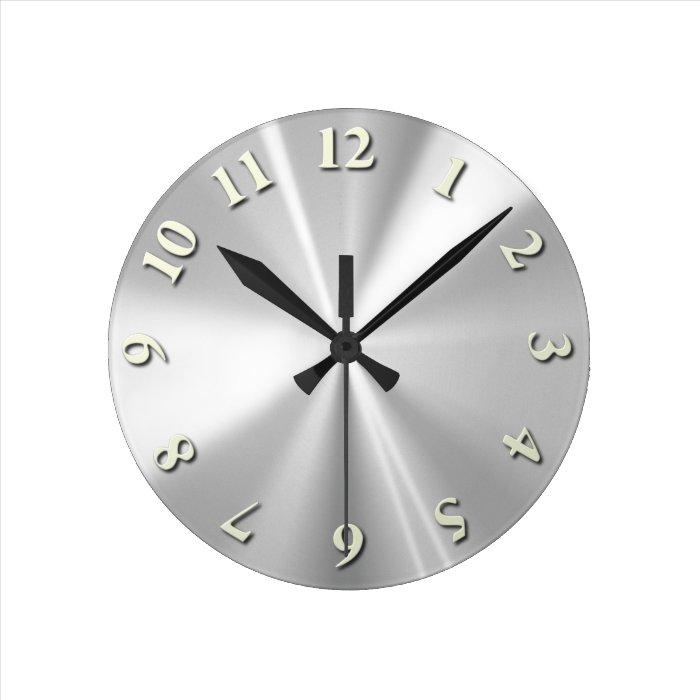 Stainless Steel Round Clock