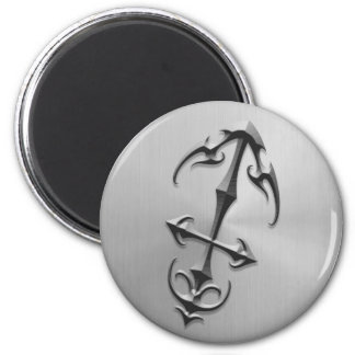 Stainless Steel Sagittarius Symbol Refrigerator Magnets