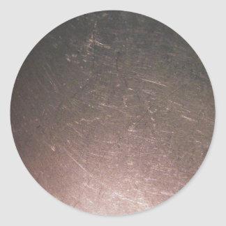 Stainless Steel Scratches Classic Round Sticker