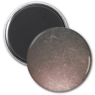 Stainless Steel Scratches 2 Inch Round Magnet