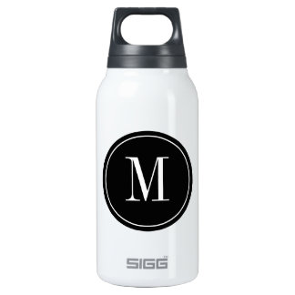 Stainless steel SIGG thermos bottle with monogram