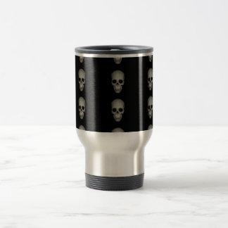 Stainless steel skull print coffee mug
