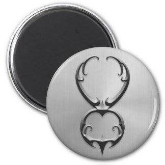 Stainless Steel Taurus Symbol Fridge Magnets