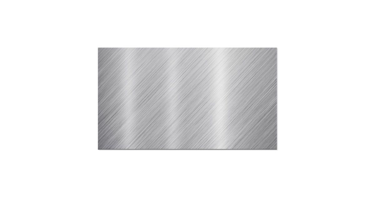 Stainless steel texture quotblankquot business card zazzle for Blank metal business cards