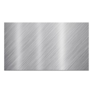 "Stainless Steel texture ""Blank"" Business Cards"