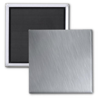 Stainless steel texture with lighting highlights 2 inch square magnet