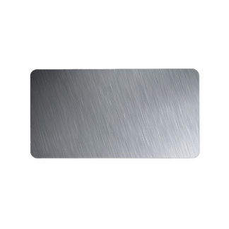 Stainless steel texture with lighting highlights label