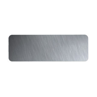 Stainless steel texture with lighting highlights custom return address label
