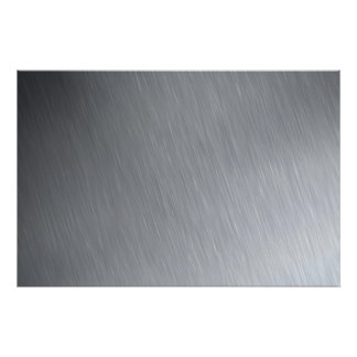 Stainless steel texture with lighting highlights poster