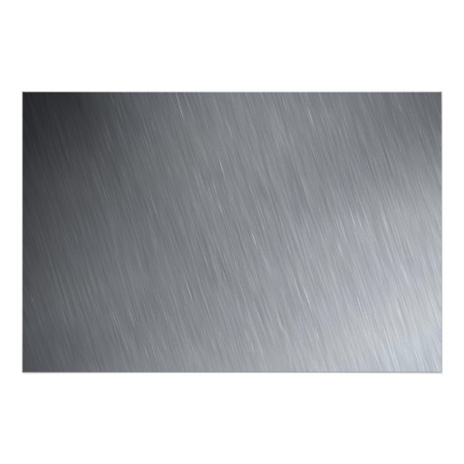 Stainless steel texture with lighting highlights posters