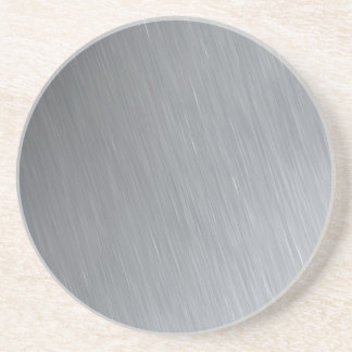 Stainless steel texture with lighting highlights sandstone coaster