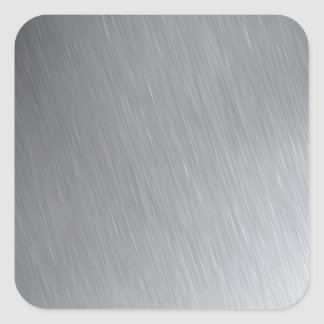 Stainless steel texture with lighting highlights square sticker