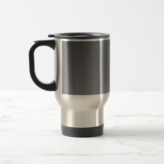 Stainless steel texture with lighting highlights travel mug