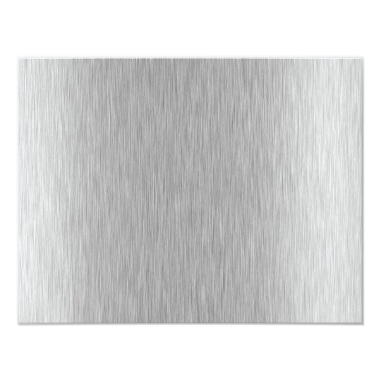 Stainless Steel Textured Card