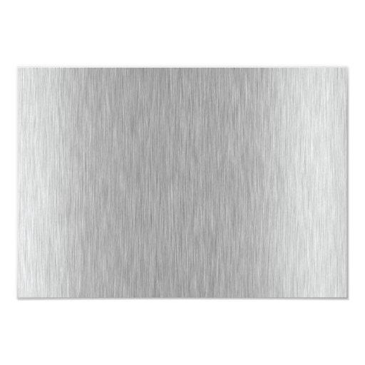 Stainless Steel Textured Custom Invites