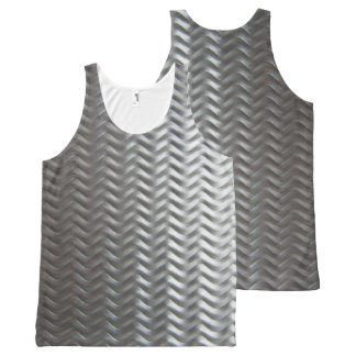Stainless Steel Textured Industrial Metal Sheet All-Over-Print Tank Top
