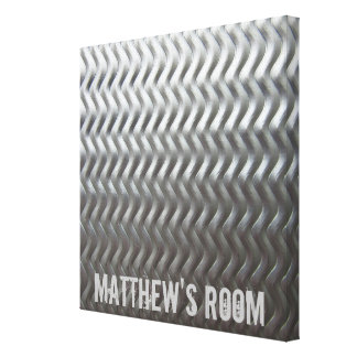 Stainless Steel Textured Industrial Metal Sheet Canvas Print