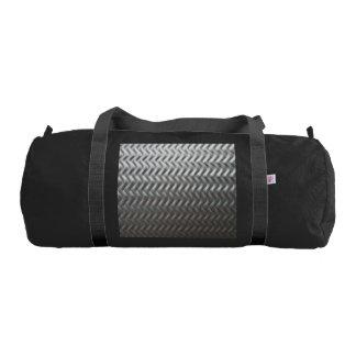 Stainless Steel Textured Industrial Metal Sheet Gym Bag