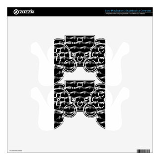 Stainless steel tile background PS3 controller decal