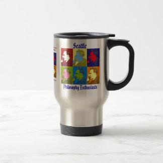 Stainless Steel Travel Mug (Nietzsche Design)