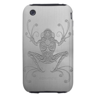 Stainless Steel Tree Frog Tough iPhone 3 Case