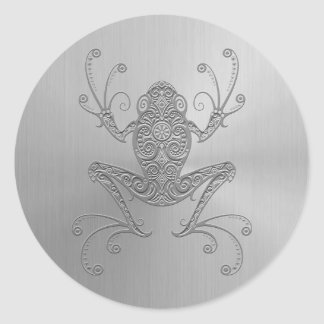 Stainless Steel Tree Frog Classic Round Sticker