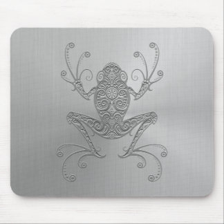 Stainless Steel Tree Frog Mouse Pad