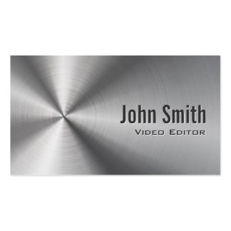 Stainless Steel Video Editor Business Card