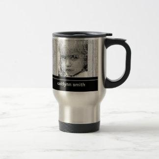 Stainless Steel White-washed Planks Mug