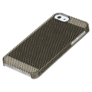 Stainless Steel Wire Mesh Pattern Clear iPhone SE/5/5s Case